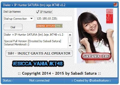 Download Dialer + IP Hunter SATURA (tm) Jeje JKT48 v1.2 | Full Version