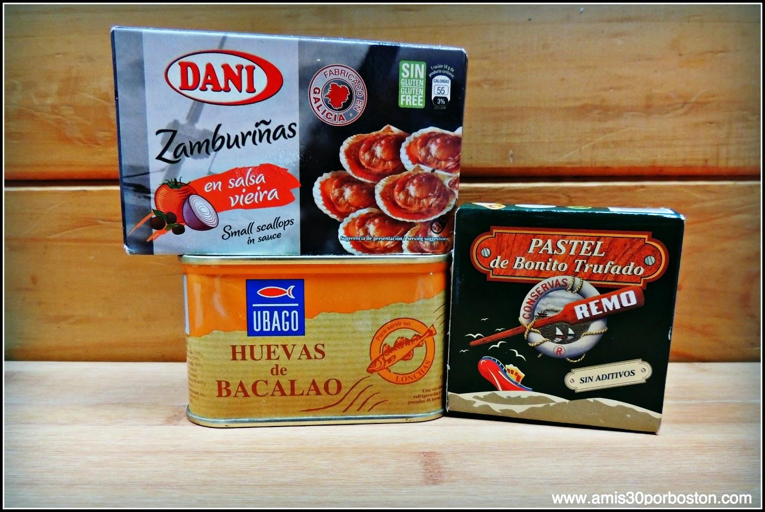 Los Productos Españoles en mis Maletas a Boston: Conservas