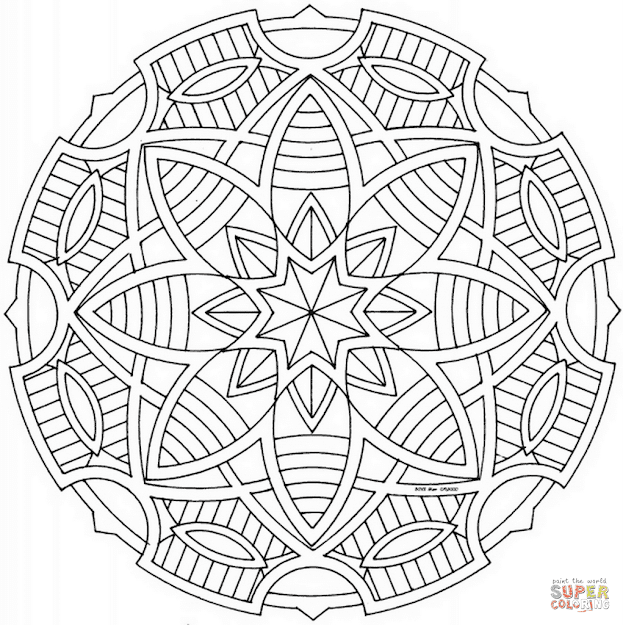 Click The Celtic Mandala With Stars Coloring Pages