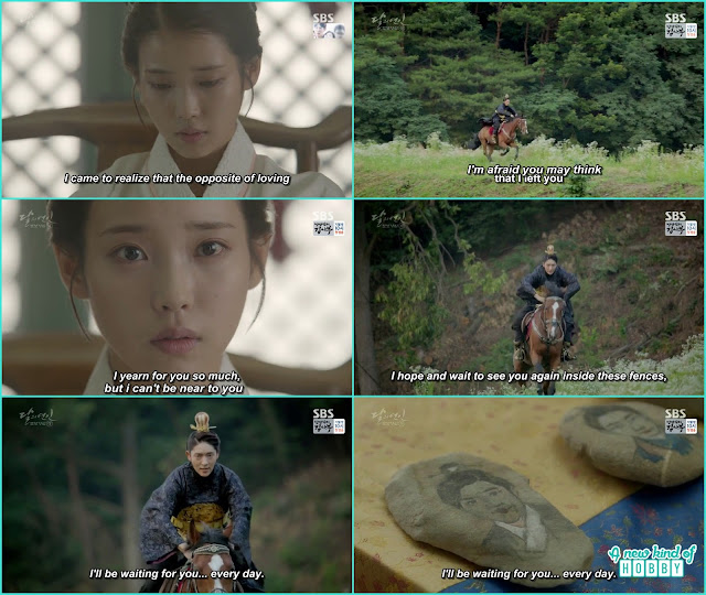 king wang so on the horse to Hae Soo  - Moon Lovers Scarlet Heart Ryeo - Episode 20 Finale (Eng Sub)