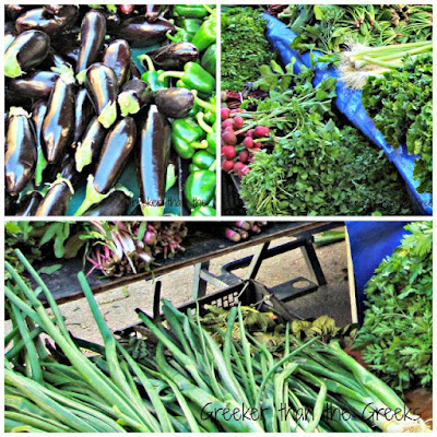 Fresh, seasonal vegetables. Loutraki Street Market Greece
