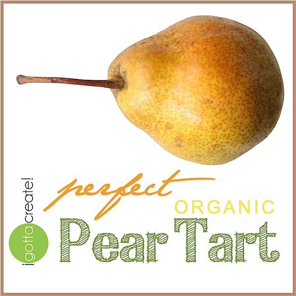 Pearfect pear tart -- yum!  | Recipe at I Gotta Create!
