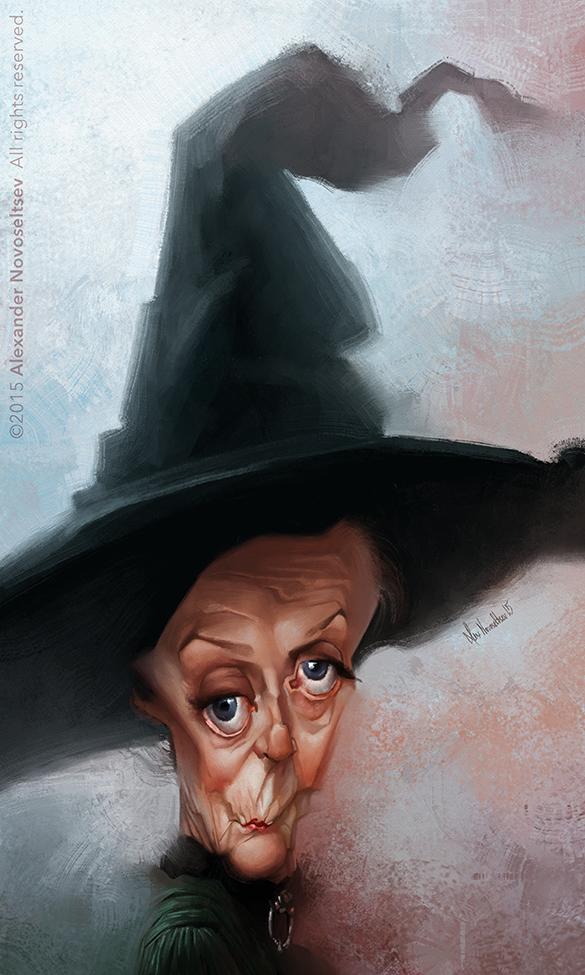 """Maggie Smith"" por Alexander Novoseltev"