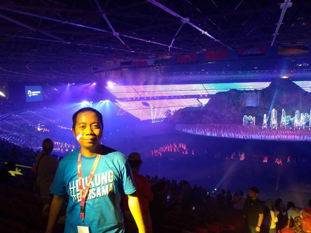 Menjadi saksi spektakuler pembukaan Asian Games
