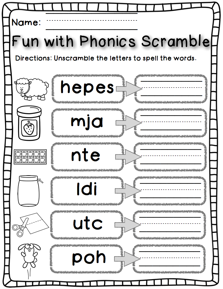 happy little kindergarten  fun with phonics  word work style