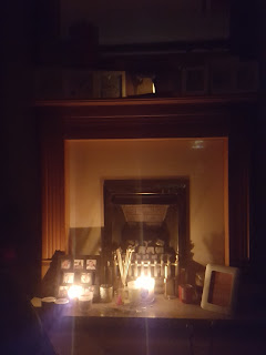 Candles on the Fireplace in a Power Cut