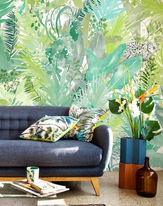 Hermanas bolena decoraci n papel pintado tropical for Papel pintado murales fotograficos