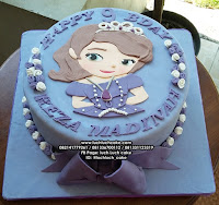 Kue Tart Princess Sofia The First Fondant 2d Birthday Cake