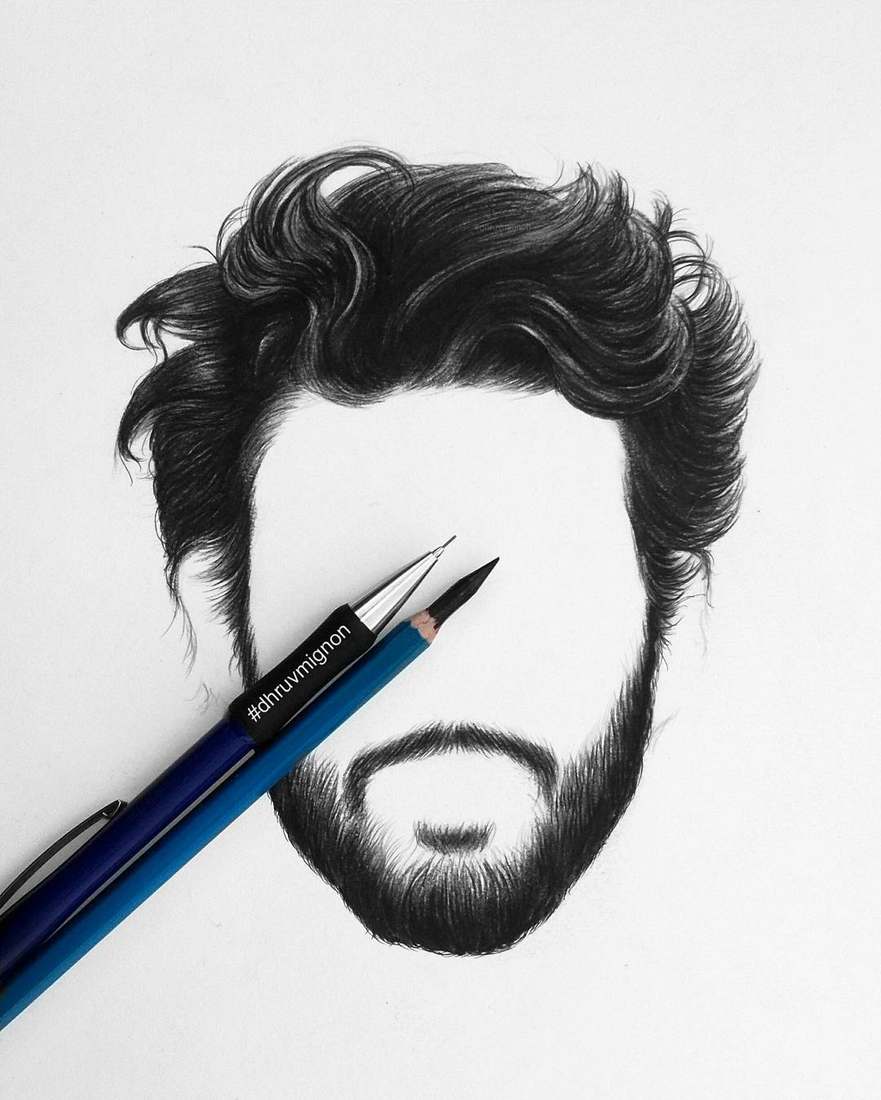 09-dhruvmignon-Minimalist-Realistic-Hair-Study-Drawings-www-designstack-co