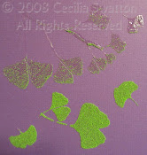 "Art made with GINKGO 6""X6"" stencil"
