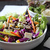 Rainbow Japanese Salad with Miso-Sesame Dressing