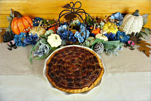 Chocolate Bourbon Pecan Pie de la Cena de Acción de Gracias