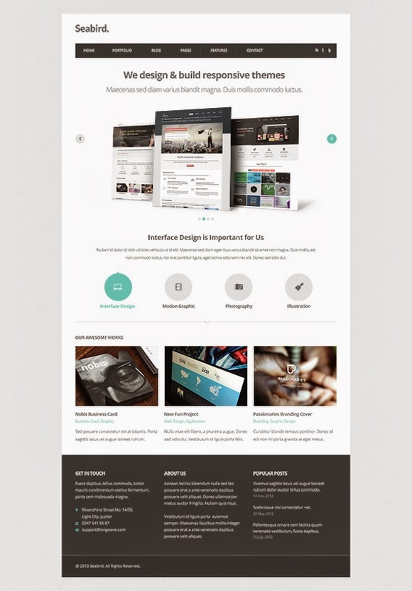 Seabird – Free Homepage PSD