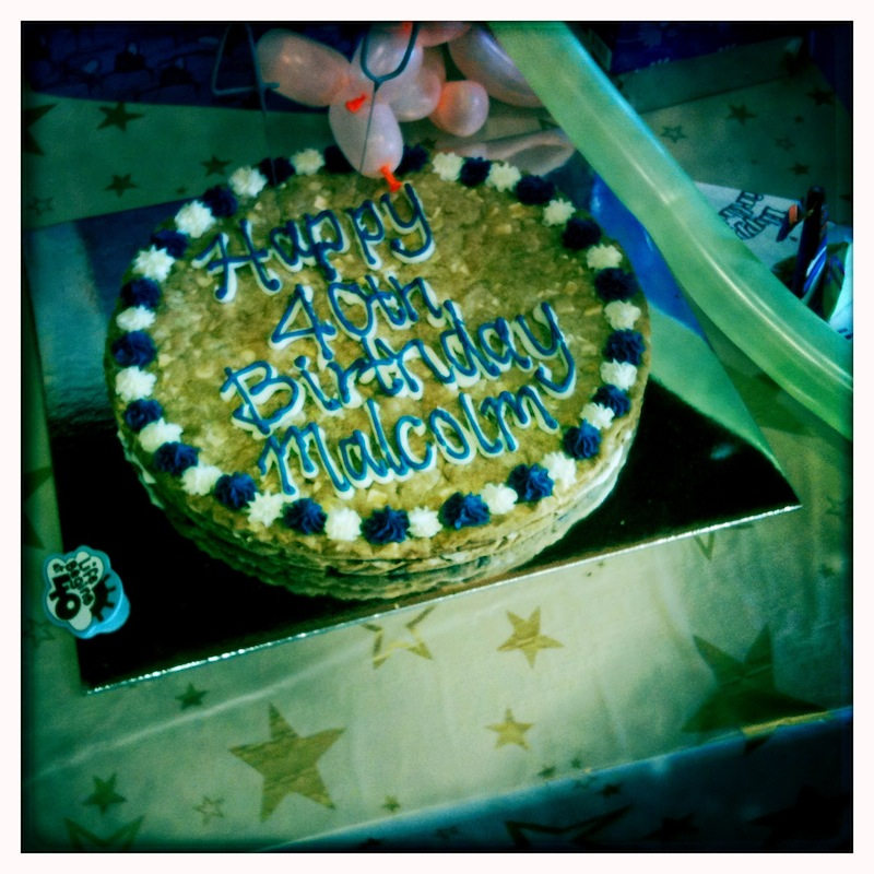 Giant Plastic Birthday Cake