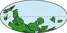 Pannotia estaba centrado en el Polo Sur