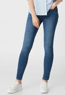 MANGO Jeansi skinny albastri