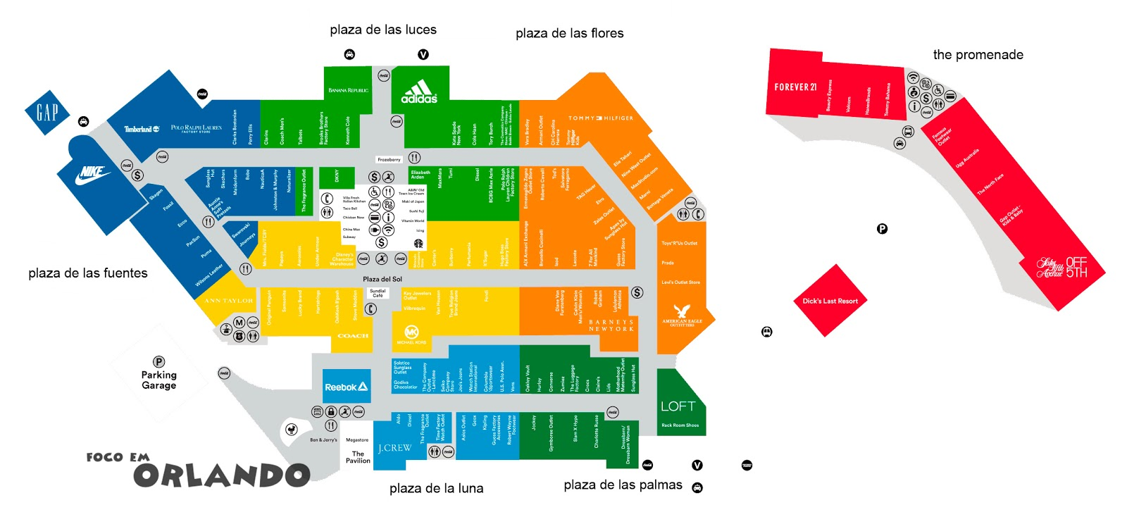 Mapa Orlando Premium Vineland