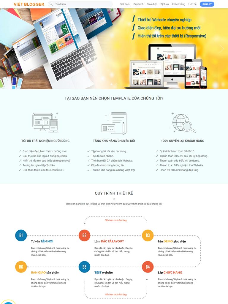 Landing Page Dịch vụ kết hợp Bán sản phẩm - Ảnh 1