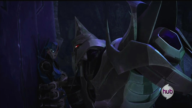 Orion_Pax_part_3_screenshot_Megatron_vs_Arcee, Gladiator from the pits of Kaon