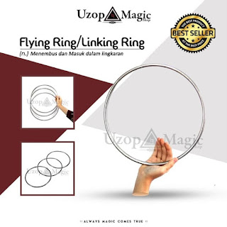 Jual alat sulap Alat Sulap Flying  Linking Ring