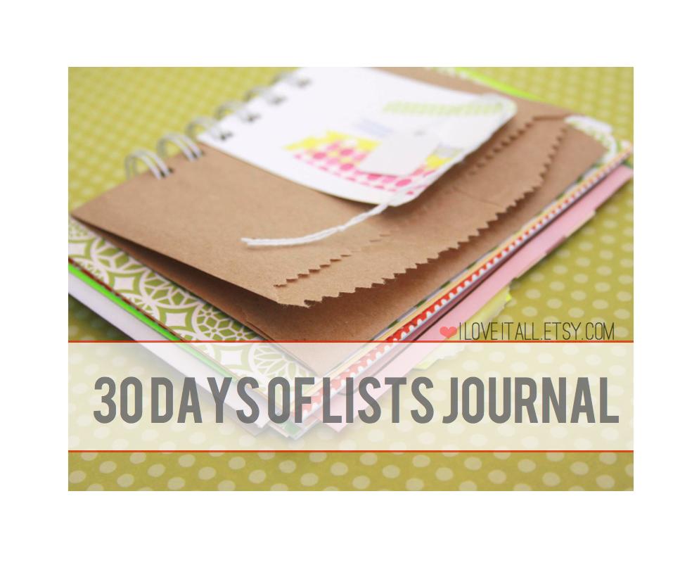 30 Days of Lists December 2013 | iloveitall.etsy.com