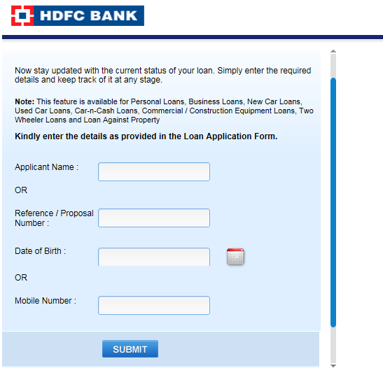 hdfc bank personal loan tracker Can download on on forum ...