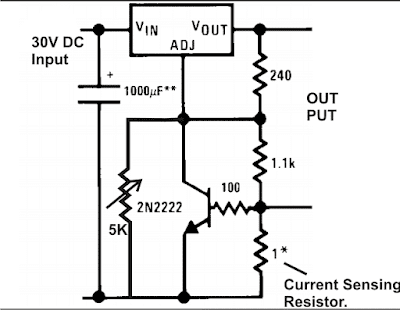 how to add current control feature to LM317 IC circuit