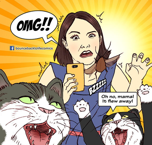 Singapore Comic, Singapore Comics, SG, Comics, Cat, Selfie