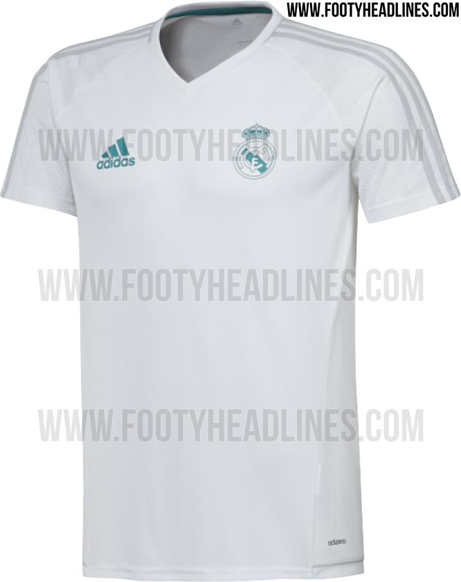 f48785bbe Discount LEAKED  Real Madrid 17-18 Training Shirts Confirm Kit Designs