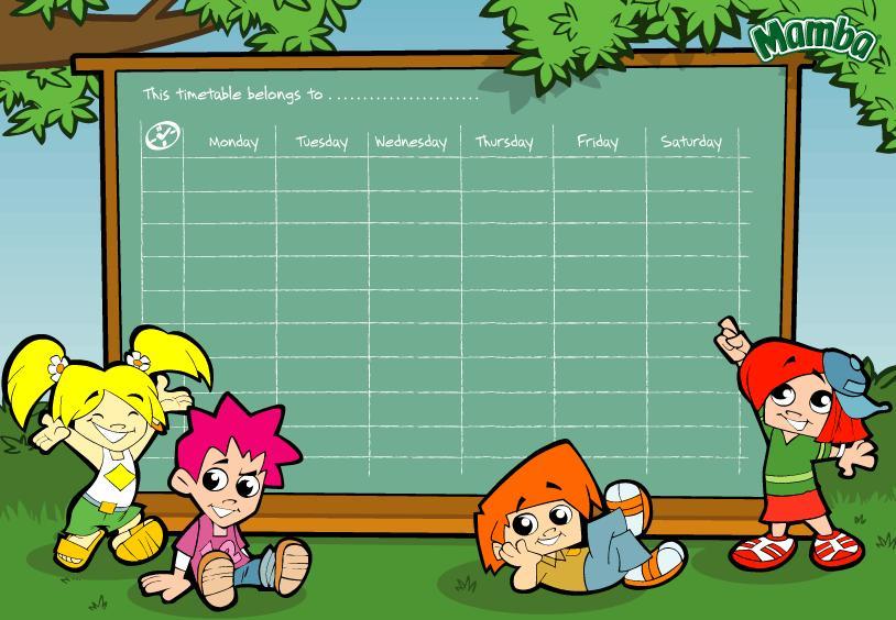 Favoloso Ciao bambini: Tabelle per la stesura degli orari WB98