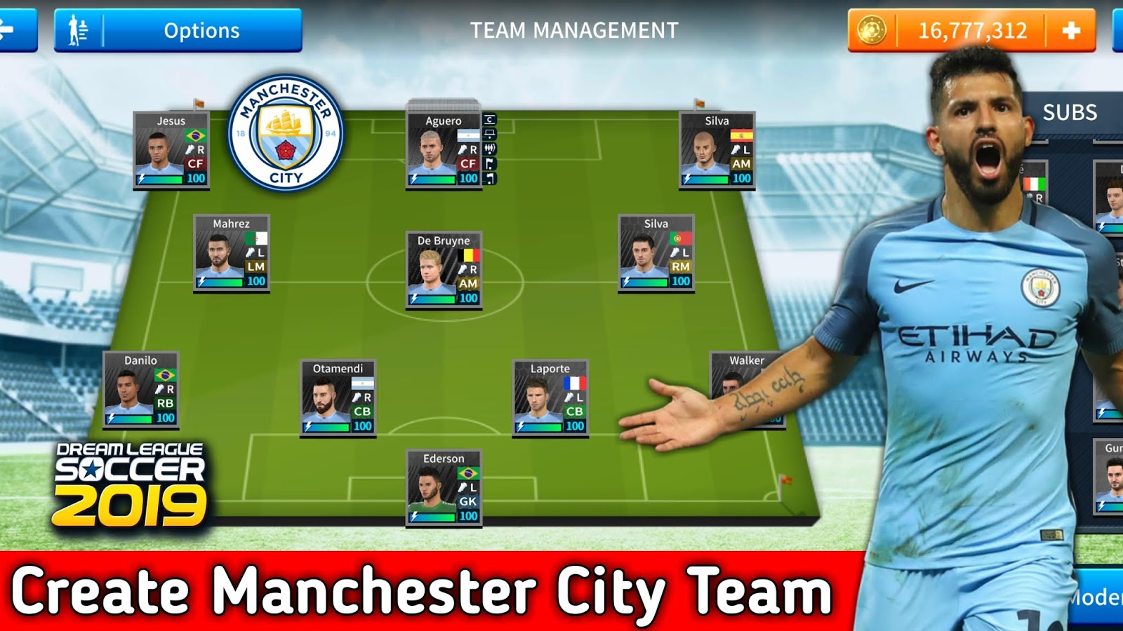 How to create Manchester City Latest team in Dream League Soccer