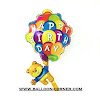 Balon Foil HAPPY BIRTHDAY Bear