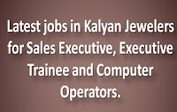 Latest jobs in Kalyan Jewelers for Sales Executive
