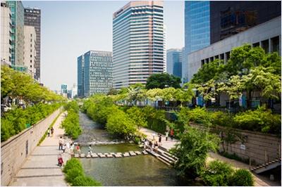 คลองชอนเกชอน (Cheonggyecheon Stream)