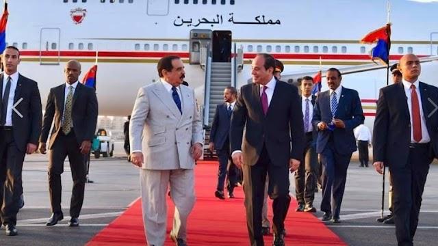 ملك البحرين يصل القاهره ويستقبله السيسي