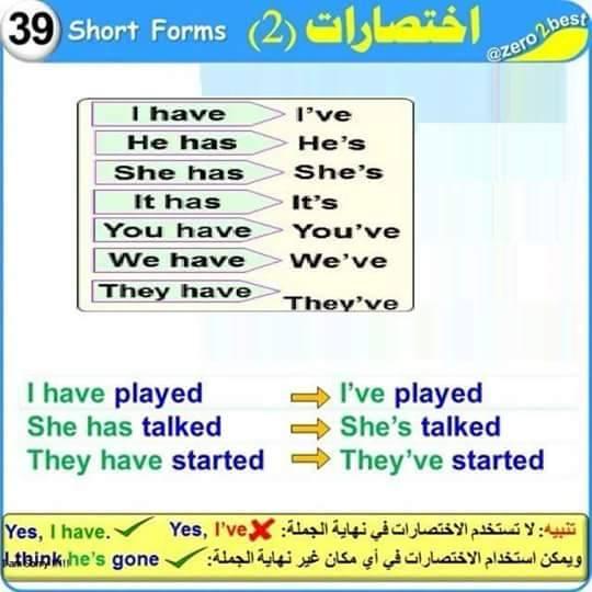 شرح الجرامر بالصور لطلاب المرحلة الابتدائية 9