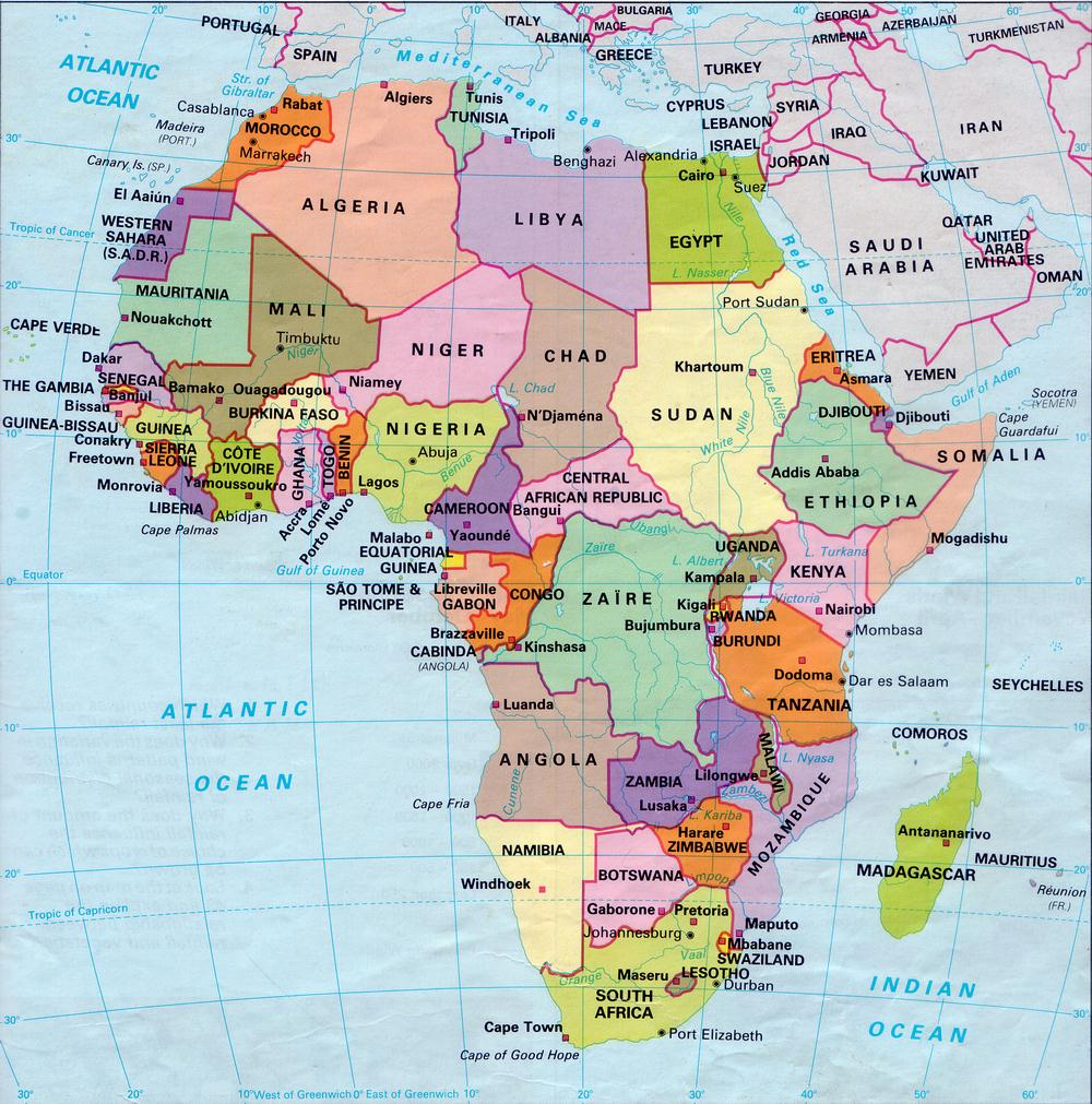 Online Maps Africa Map With Capitals
