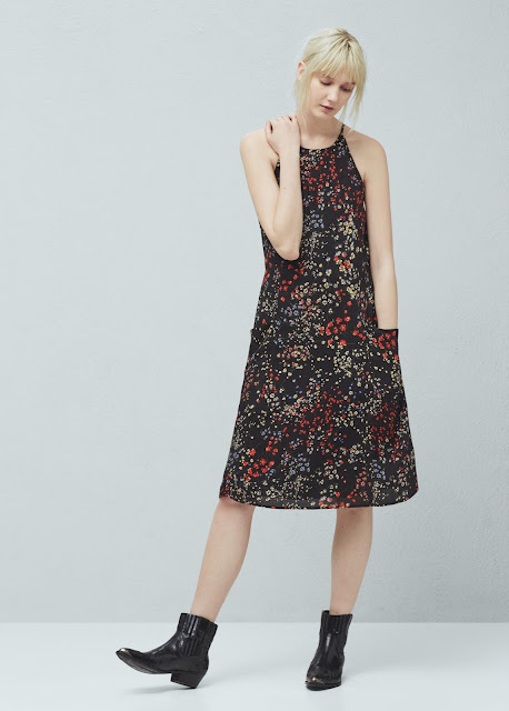 ditsy print cami dress,