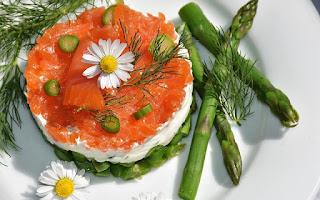 Comida saludable, esparragos