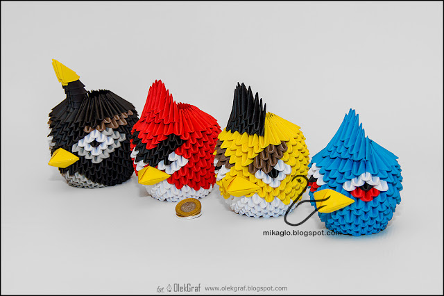 393. Angry Birds / 3d origami Angry Birds