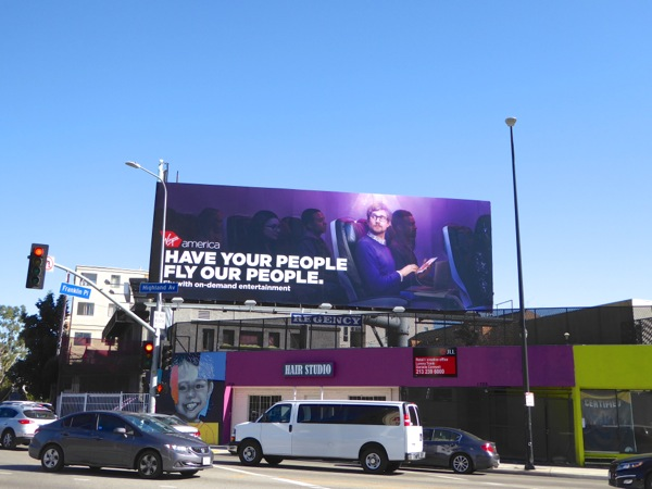 Virgin America your people fly our people billboard