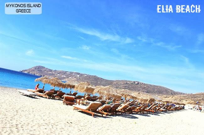 Elia beach Mykonos island