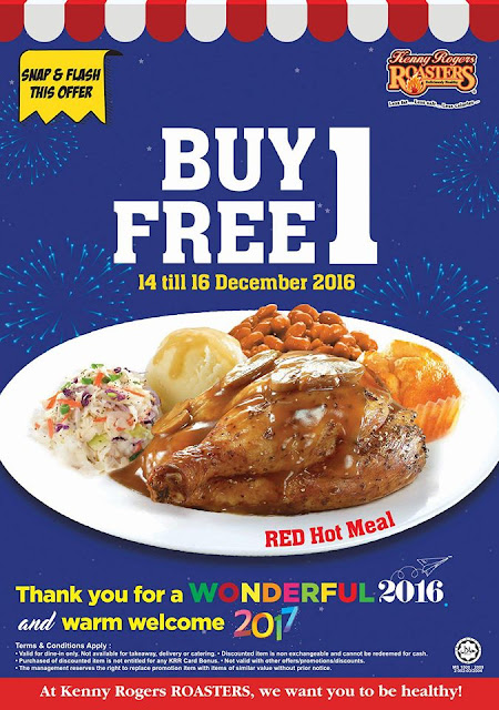 Kenny Rogers ROASTERS Malaysia Buy 1 Free 1 Promo