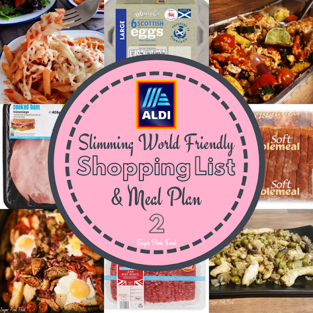 Slimming world aldi shopping list and meal plan.