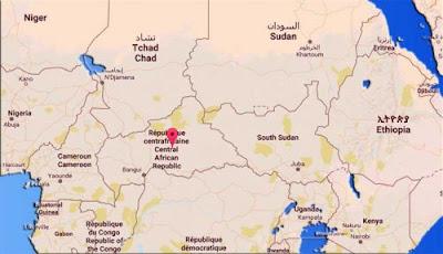 Gambar Peta negara Republik Afrika Tengah