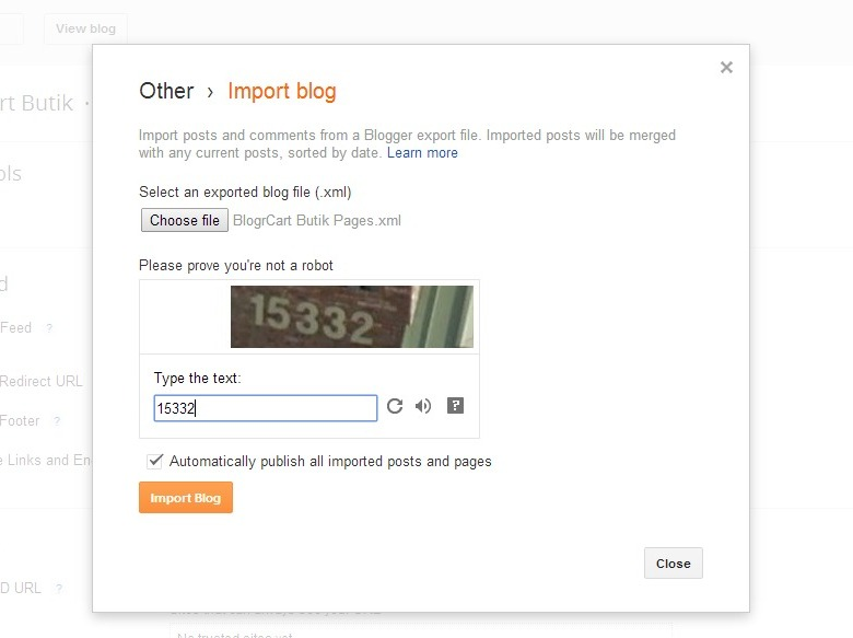 easy upload BlogrCart pages and quick product install