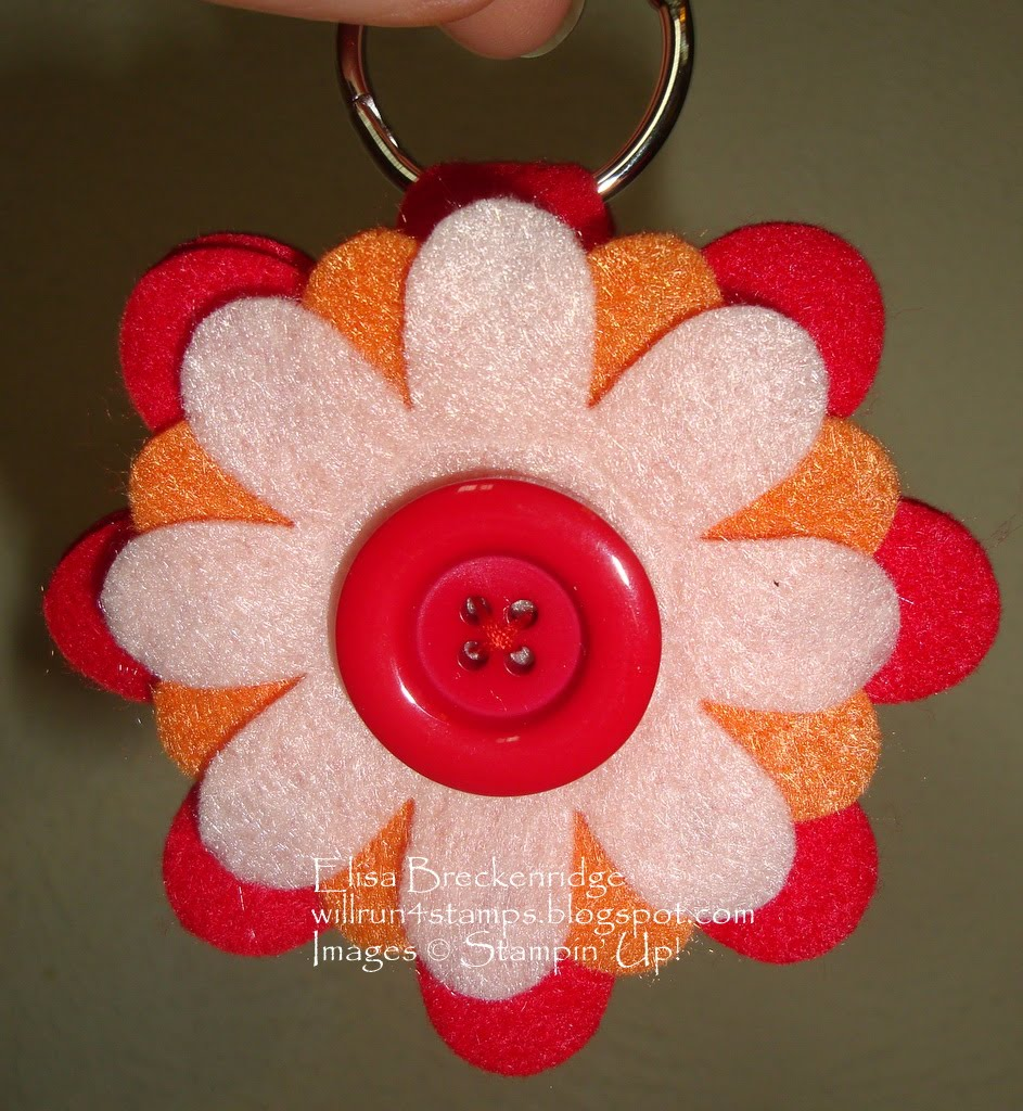 felt craft idea will run 4 stamps big class felt flower keychain 2000