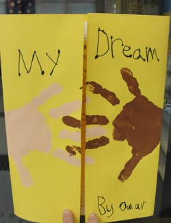 MLK jr. craft and writing idea, celebrate diversity