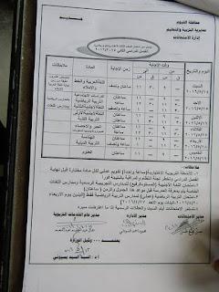 جدوال امتحانات اخر العام 2016 محافظة الفيوم بعد التعديل 12987174_10204879241261255_4053263820651065753_n