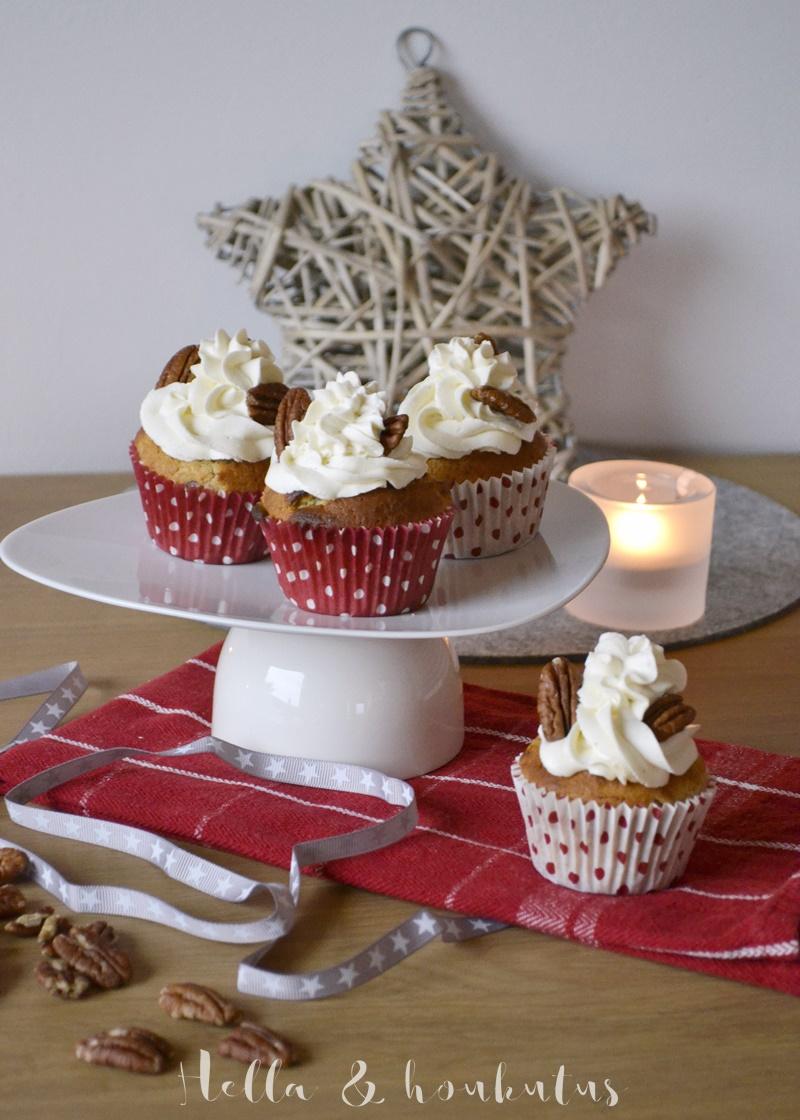 Makeaa joulunodotusta: Pekaanipähkinä-siirappimuffinsit